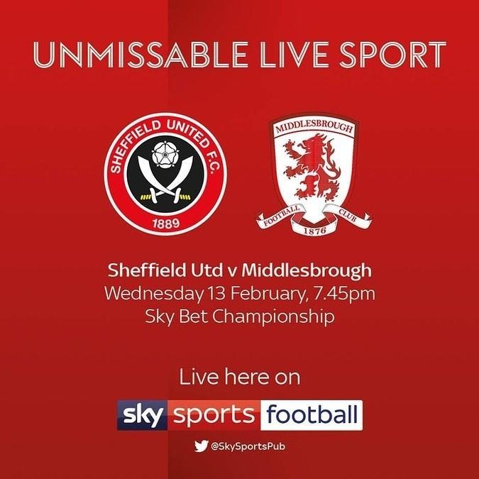 Sheffield Utd V Middlesbrough