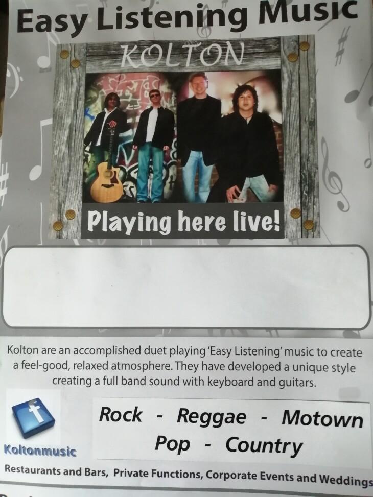 LIVE MUSIC---- KOLTON------