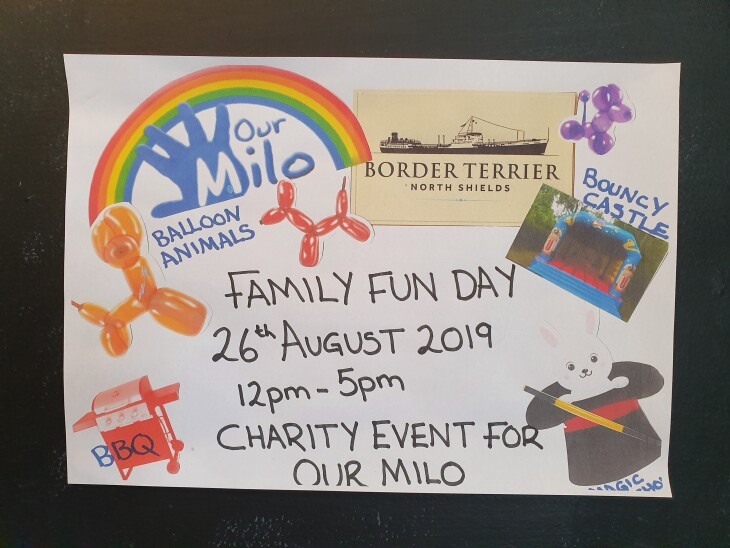 Family fun day/fundraiser for OUR MILO