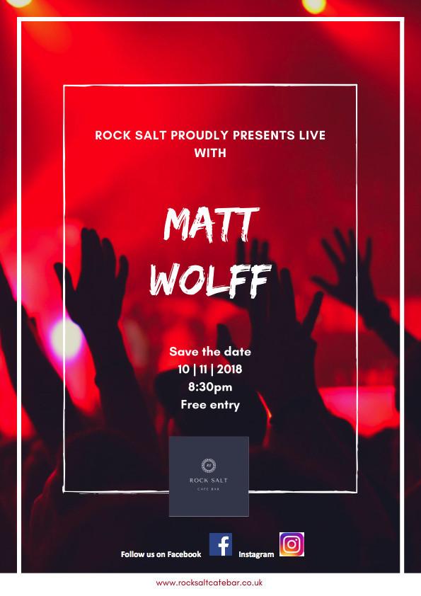 Live with Matt Wolff