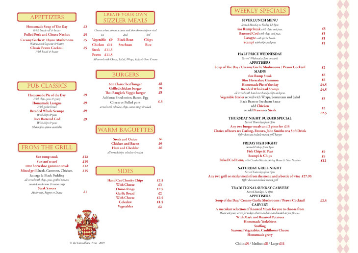 OUR NEW MENU IS NOW AVAILABLE