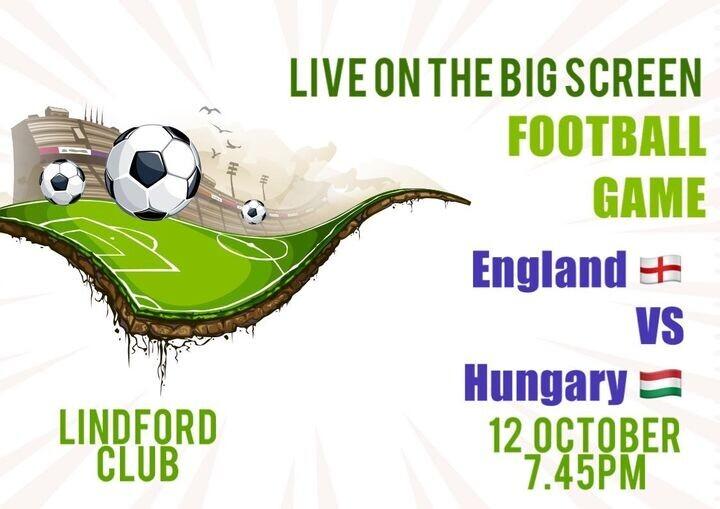 Live football on Big screen 7.45pm
