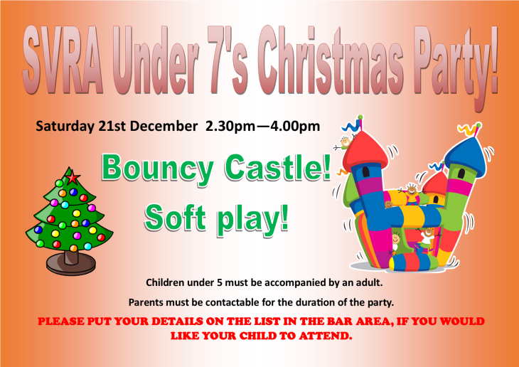 SVRA UNDER 7s Christmas Party