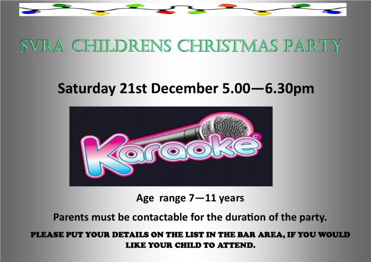 SVRA- 7- 11 CHILDRENS CHRISTMAS PARTY