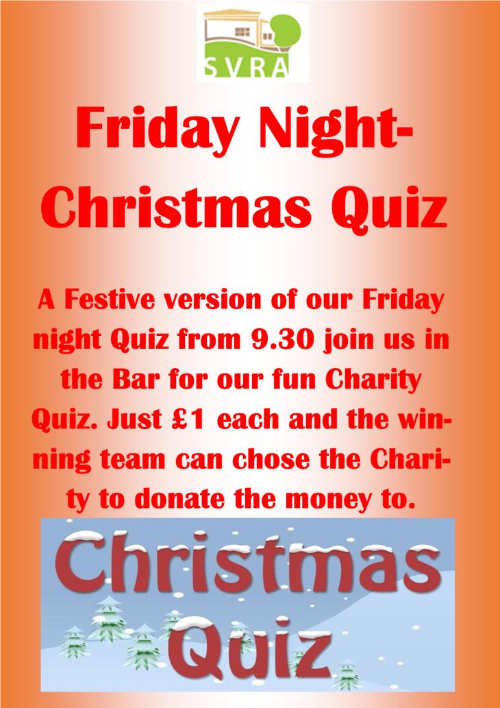 Friday Night Christmas Quiz