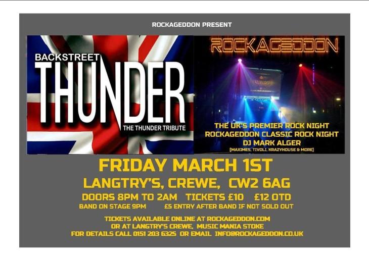 Rockageddon Rock Night + THUNDER
