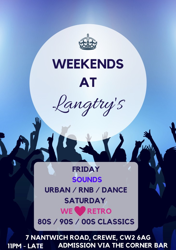 This weekend at Langtry's!