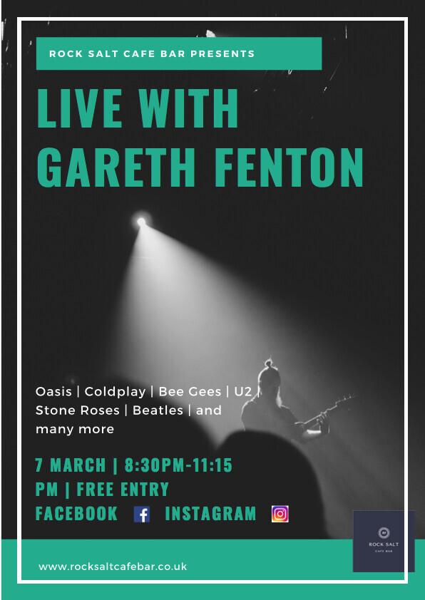 Live with Gareth Fenton