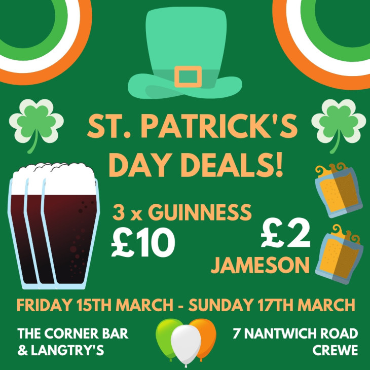 St. Patrick's Day Deals!