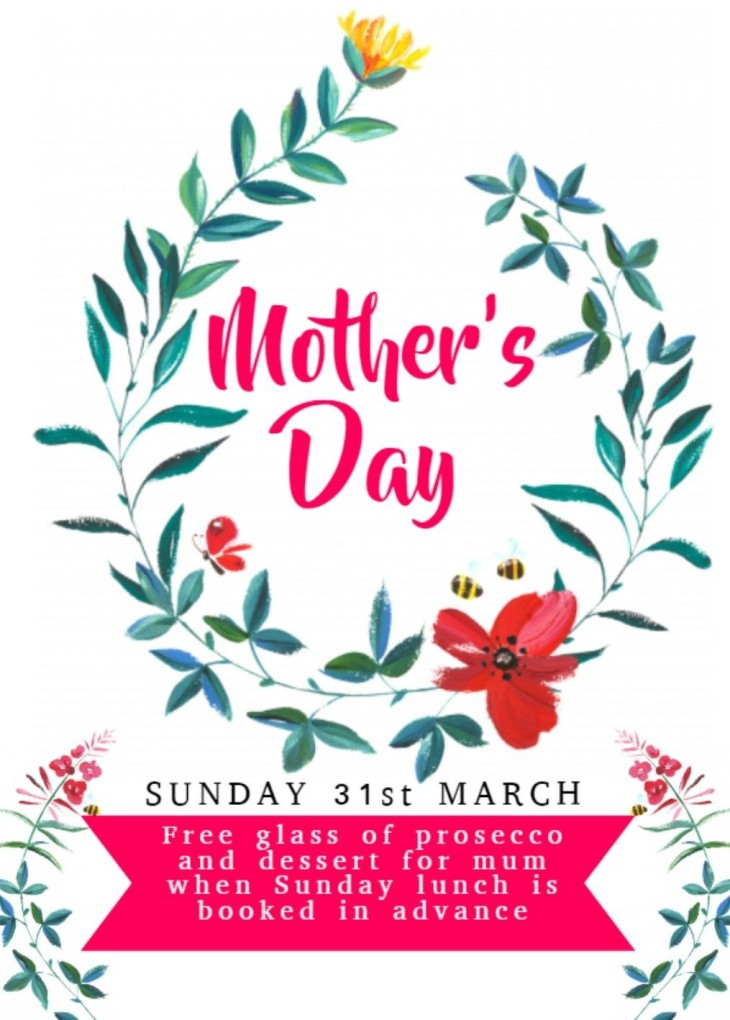Mother's Day Sunday 31st March