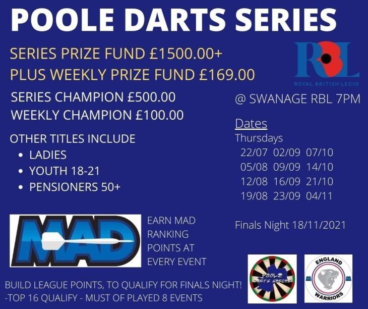 Poole Darts Series 1 - Event 1