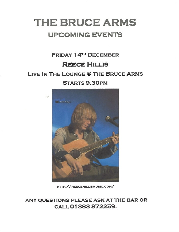 Reece Hillis live in The Lounge @ 9pm