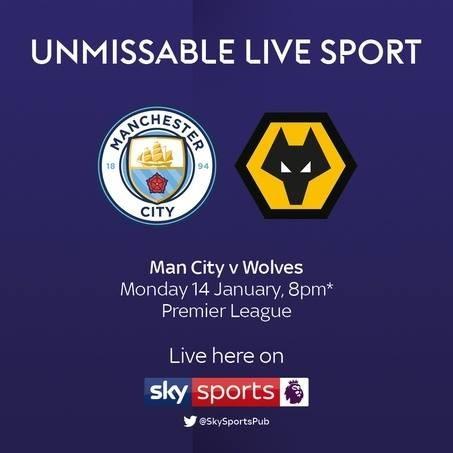 Live tonight Man City v Wolves