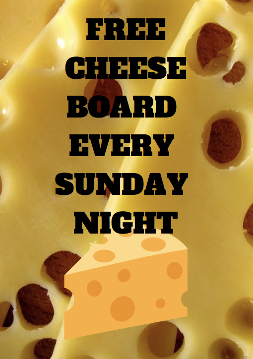 FREE CHEESEBOARD SUNDAY