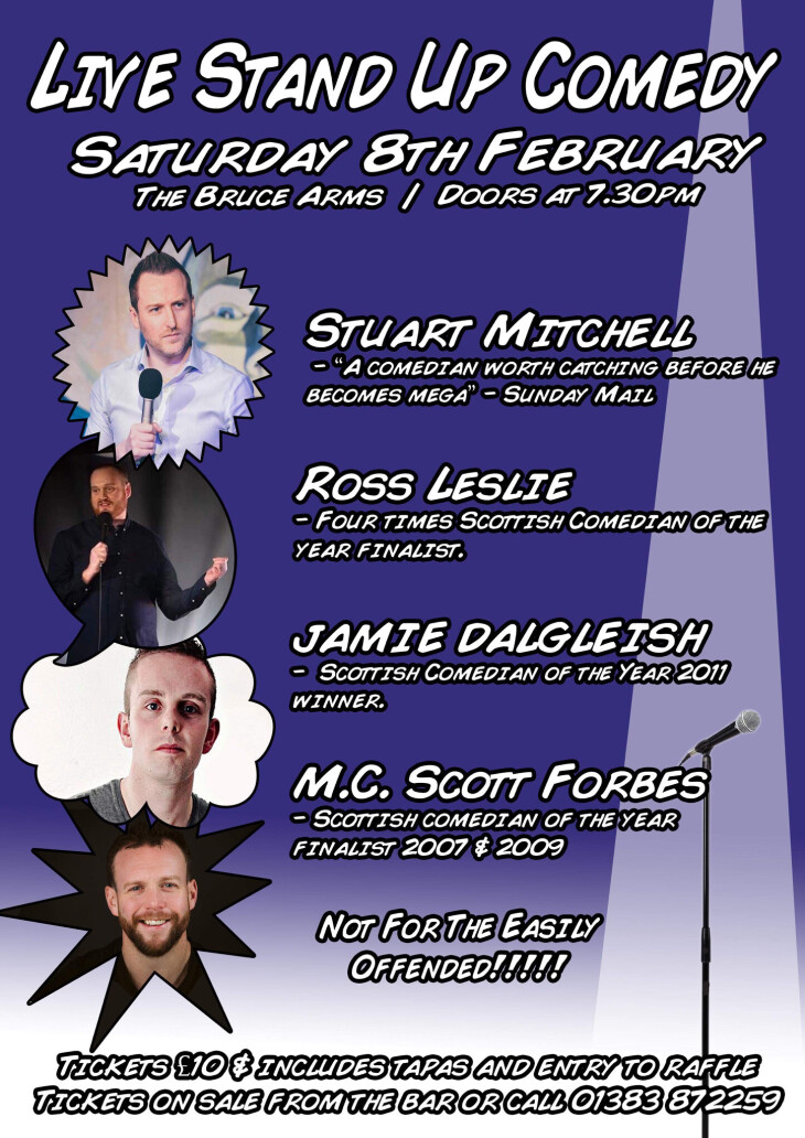 Live Stand Up Comedy / Doors @ 7.30pm