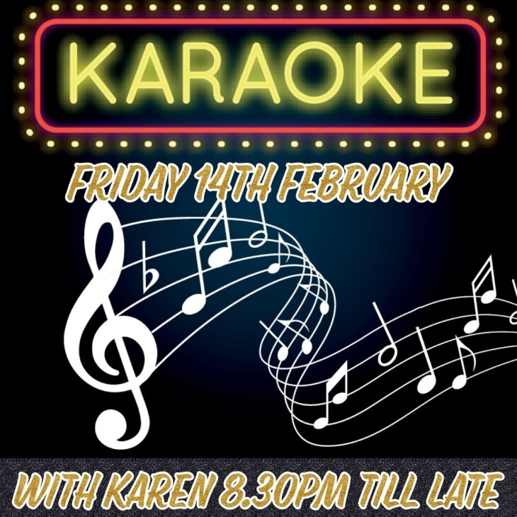 Karaoke with Karen 8.30pm
