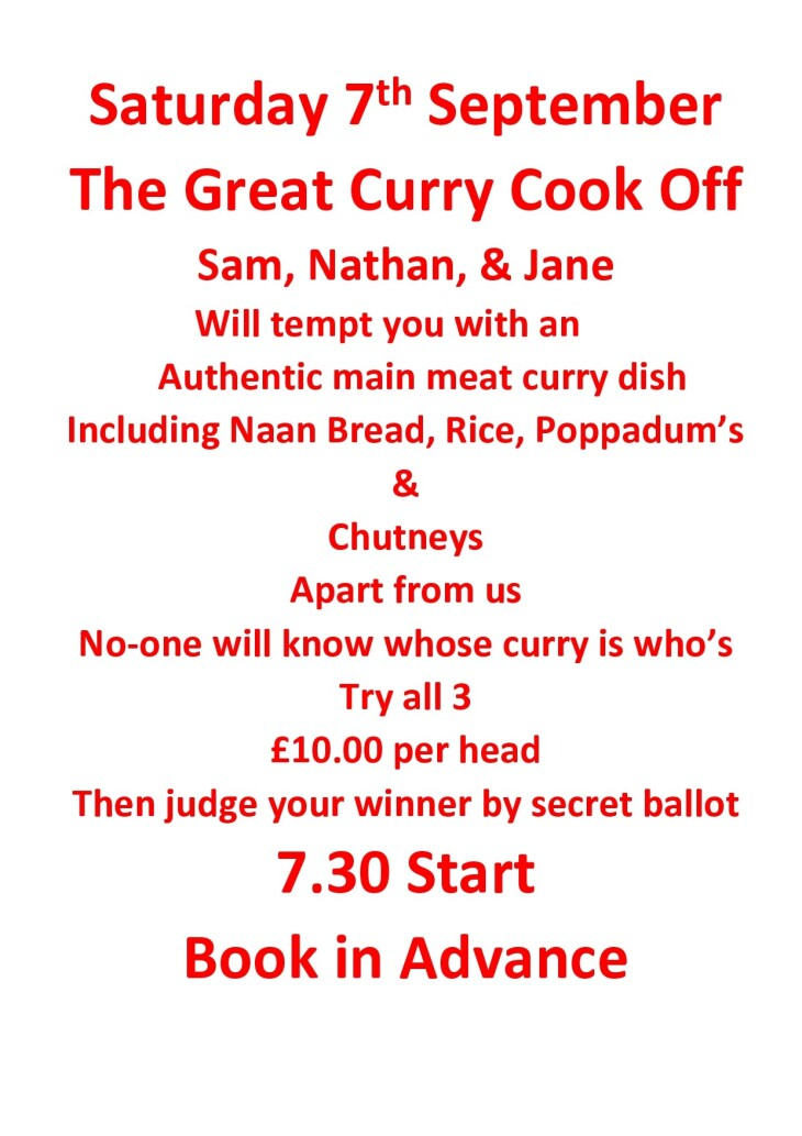 The Great Curry Cook Off