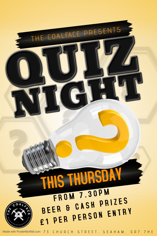 Thursday Quiz Night IS BACK!
