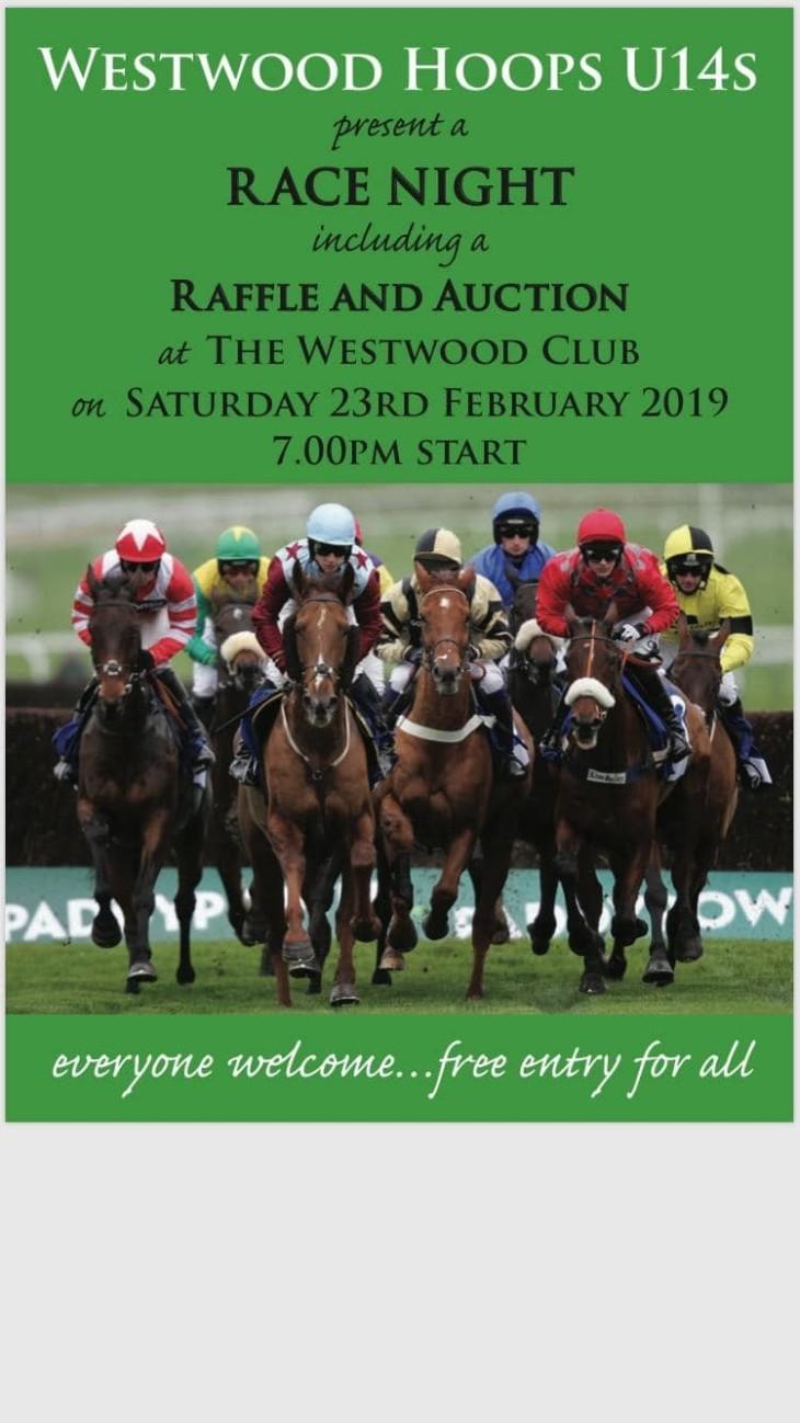 Westwood Hoops U14 Race Night