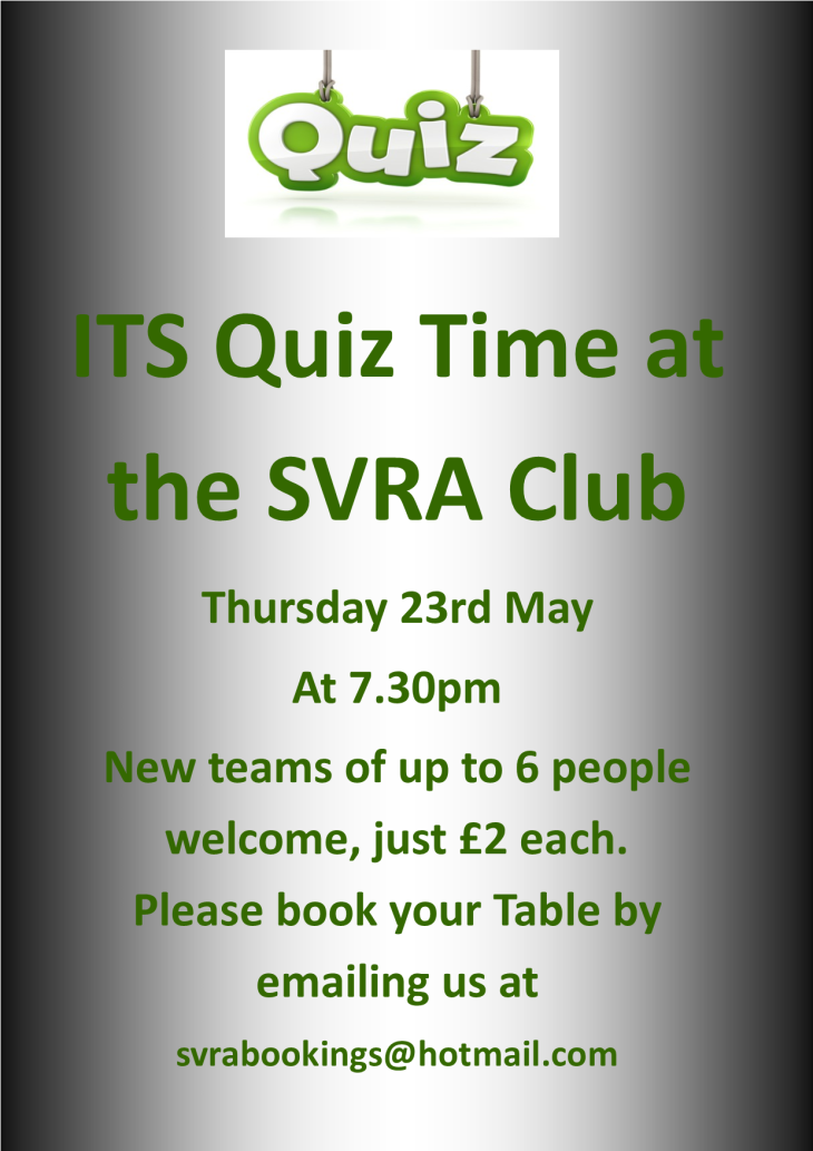 Its Quiz Time at the SVRA Club