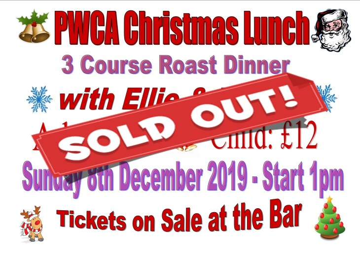 PWCA Christmas Lunch - SOLD OUT