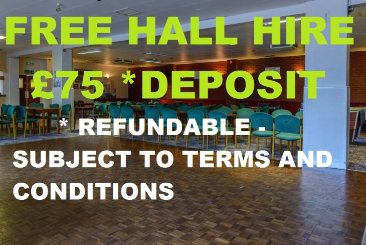 FREE HALL HIRE