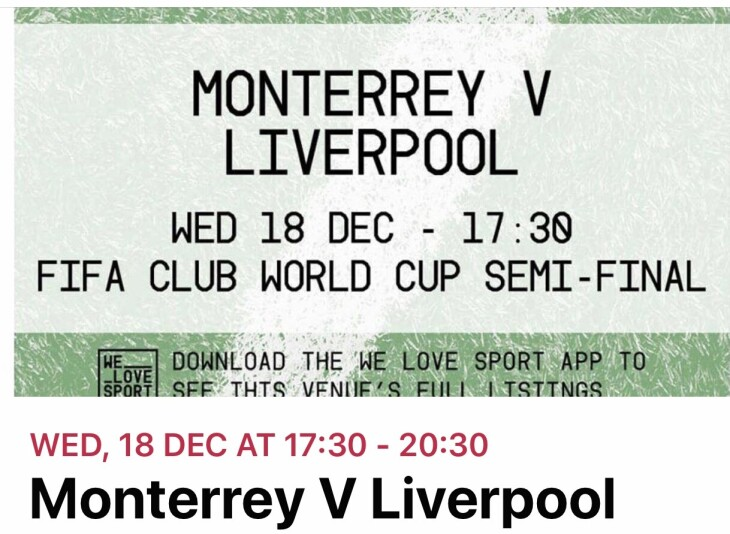 Liverpool v Monterrey