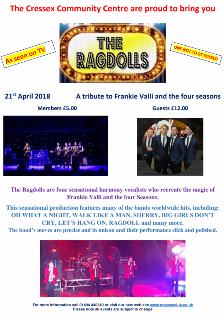 RAG DOLLS - Frankie Valli Tribute