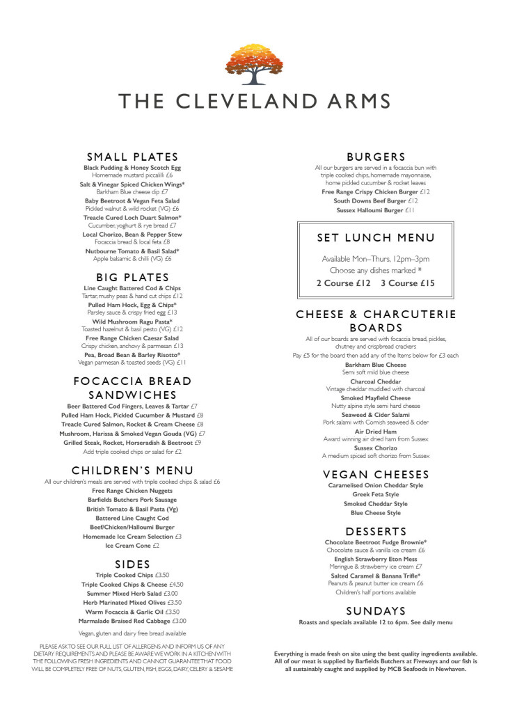 New menu launched!!