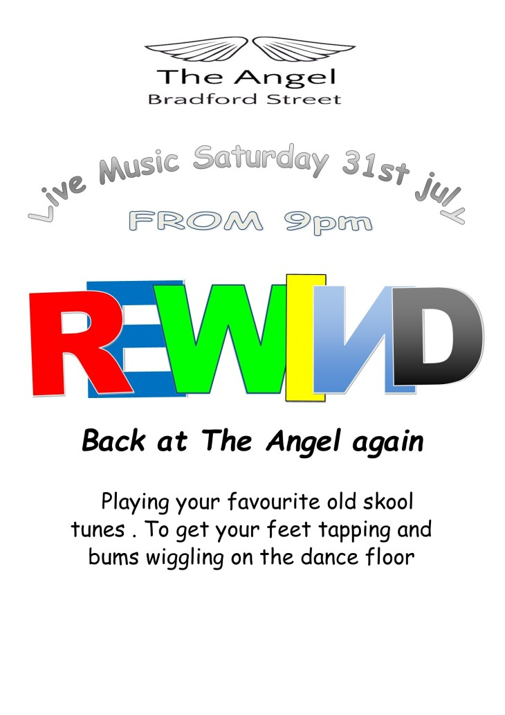 Live Music with Rewind from 9pm