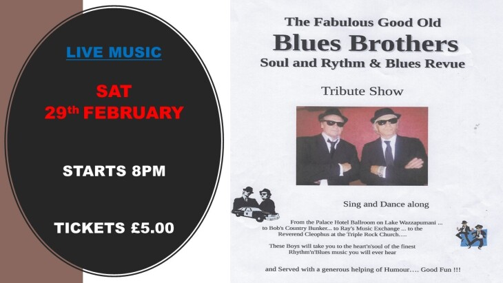 LIVE MUSIC BLUES BROTHERS