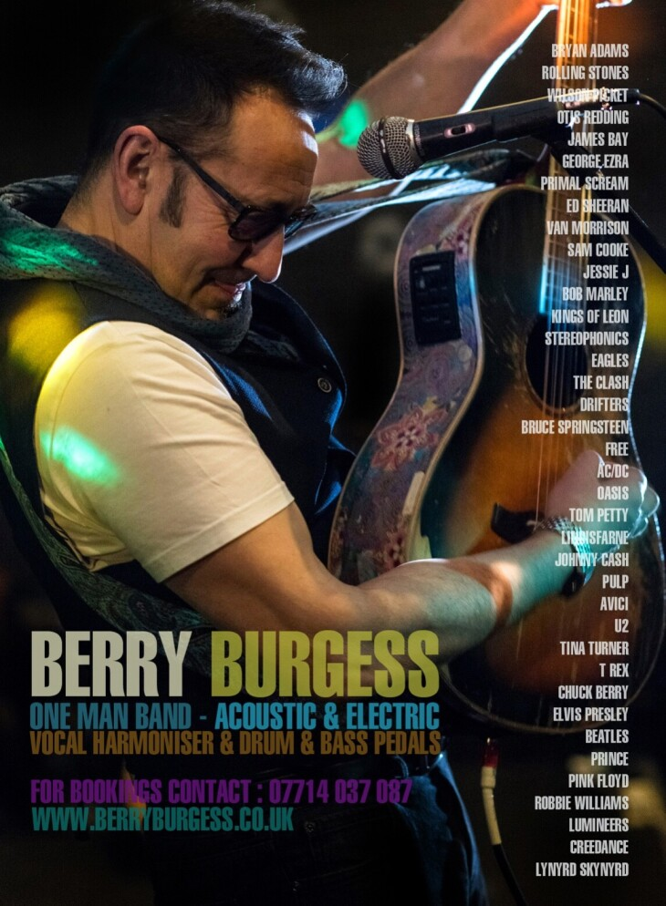 Live music from Berry Burgess