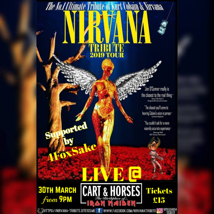 Nirvana Tribute supported by 4FoxSake