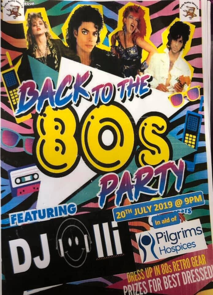 80's Charity Fancy Dress Night