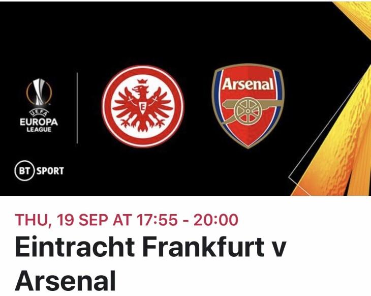 Eintracht v Arsenal