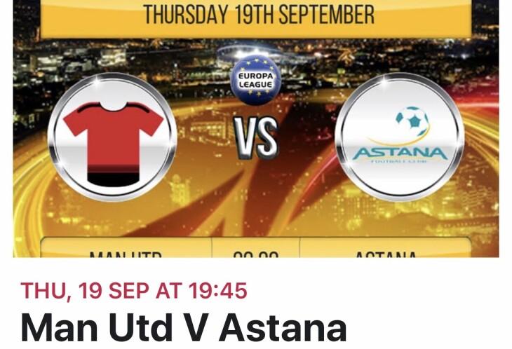 Man U v Astana