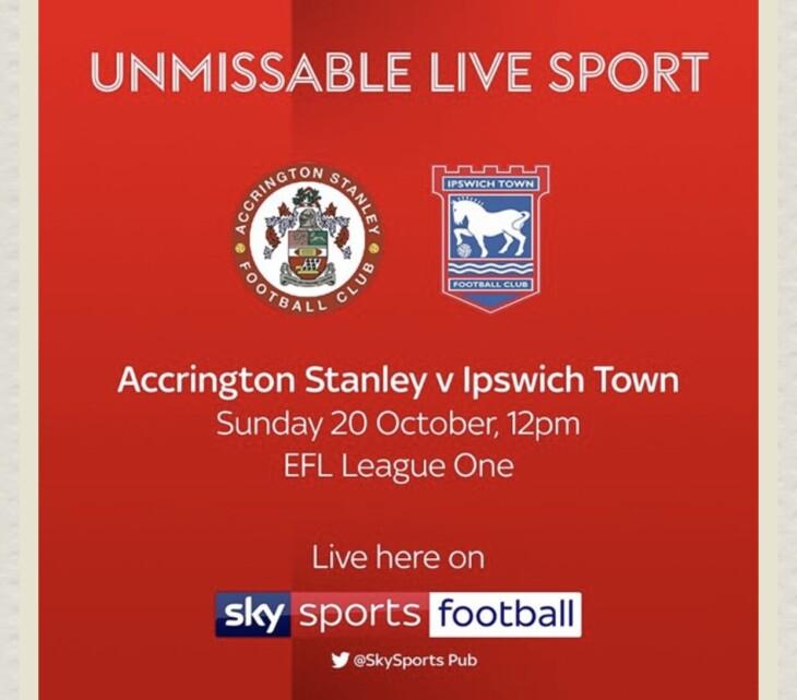 Accrington v Ipswich town