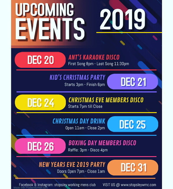 Upcoming Events December 2019