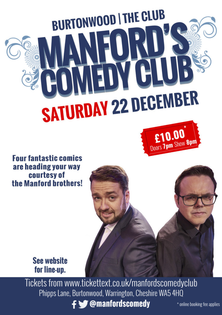 Manford's Comedy Night Warrington
