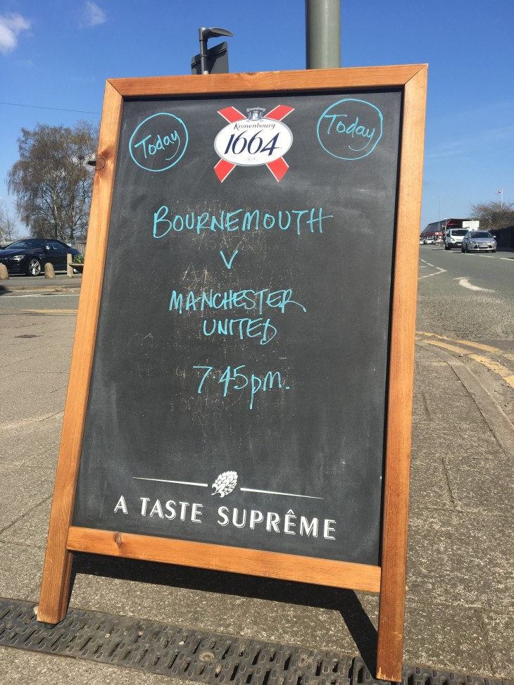 7:45 pm Bournemouth v Man United