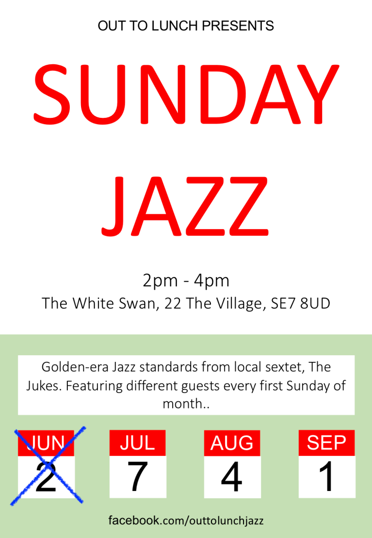 OUT TO LUNCH SUMMER JAZZ 2-4pm