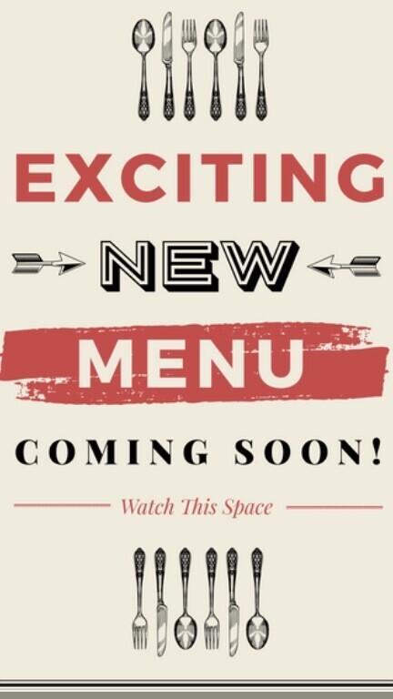 New Menu Coming