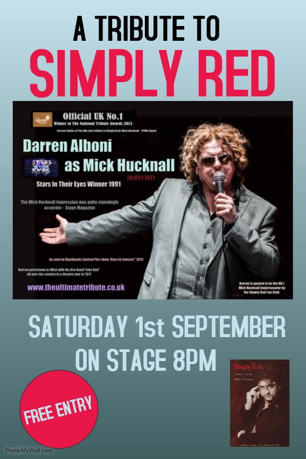SIMPLY RED - TRIBUTE TO MICK HUCKNALL