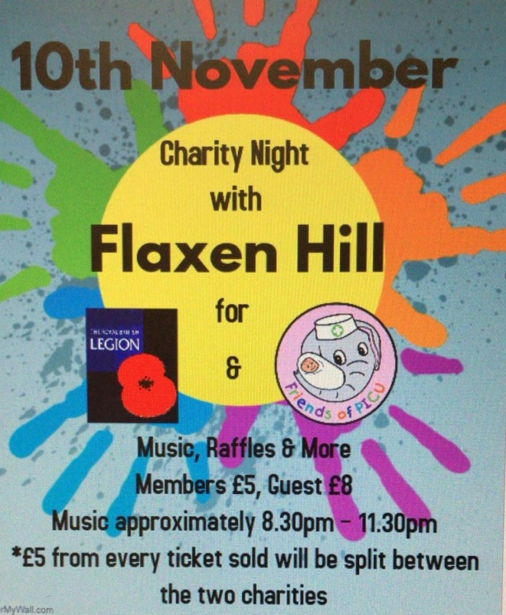 Flaxen Hill Band charity  night