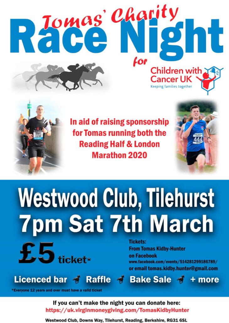 Charity Race Night - 7pm start