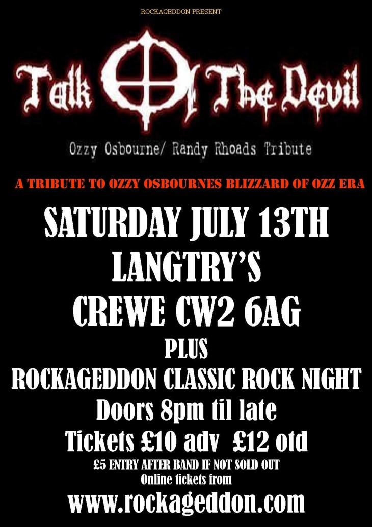 Rockageddon Rock Night & Ozzy Tribute