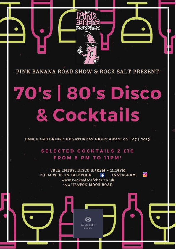 Pink Banana Roadshow 70's & 80's Disco