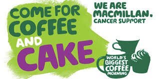 Macmillan coffee morning 11am