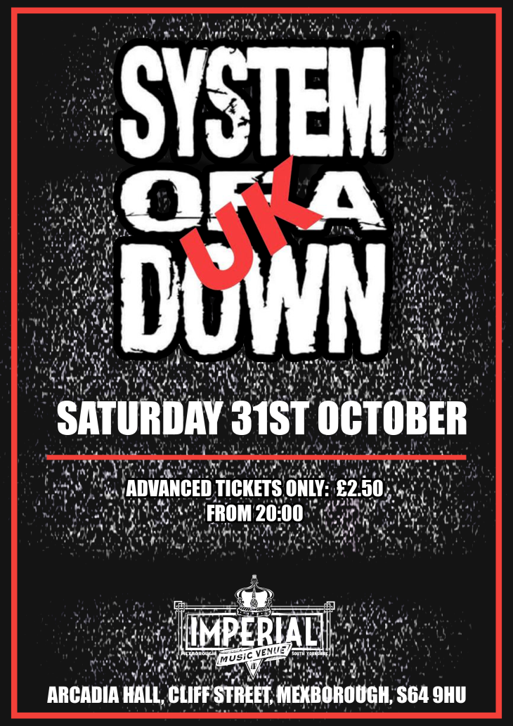 SYSTEM OF A DOWN UK
