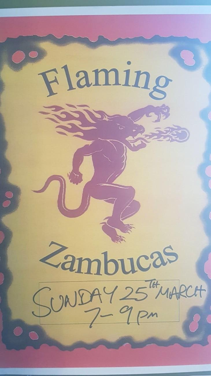 FLAMING ZAMBUCAS